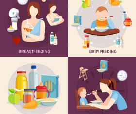 Baby food nutrition banner vector