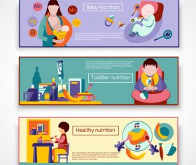 Baby nutrition banner vector