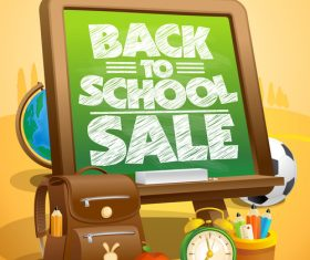Back to School Poster green vector