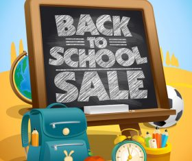 Back to School board black poster vector