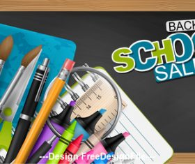 Back to school blackboard and pencil vector