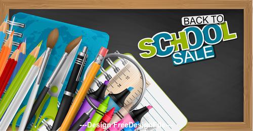 Back to school blackboard and pencil vector