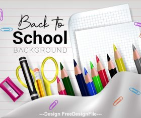 Back to school cover and manuscript paper vector