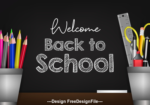 Back to school cover vector