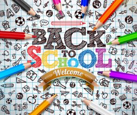 Back to school design vector education concept illustration 01