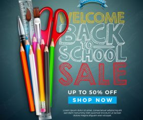 Back to school design vector education concept illustration 02
