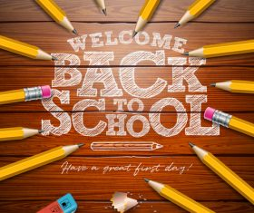 Back to school design vector education concept illustration 03