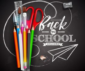 Back to school design vector education concept illustration 04