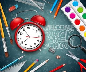Back to school design vector education concept illustration 05