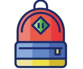 Backpack cartoon vector