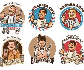Barber set cover vector
