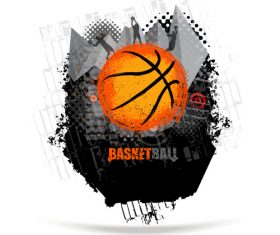Basketball game poster vector