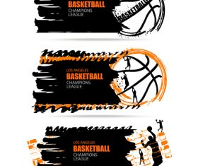Basketball poster banner vector