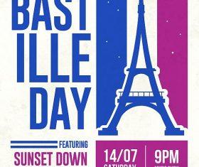 Bastile Day Flyer PSD Template