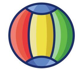 Beach ball cartoon vector