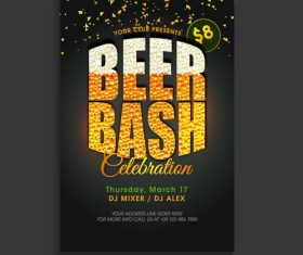 Beer bash poster vector