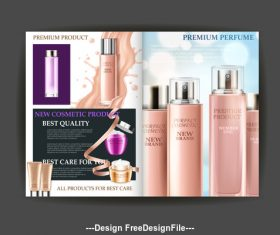 Best quality cosmetic advertising poster vector