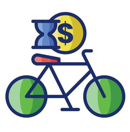 Bicycle rental cartoon vector