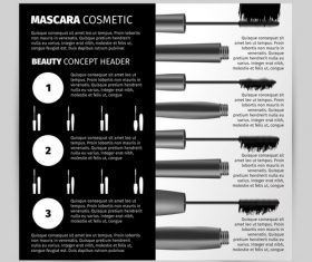 Black Mascara Promotional Template vector