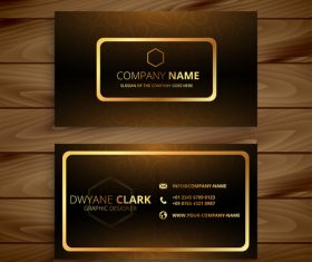 Black and gold premium business card design