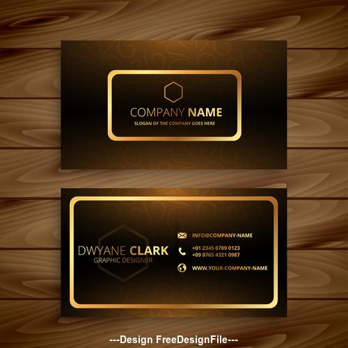 Black and gold premium business card design