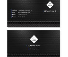 Black background business card design vector