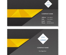 Black background gold bar business card design vector