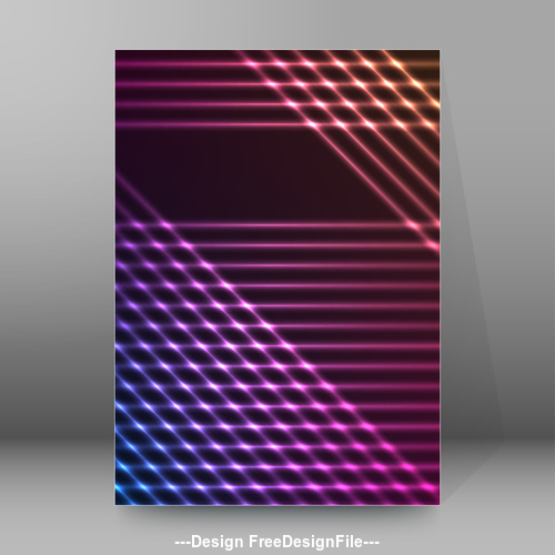 Black background purple glow cover pages A4 style vector