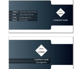 Black white background business card design vector