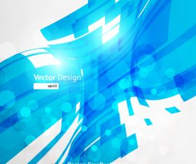Blue futuristic bend background vector