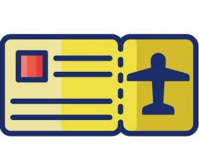 Boarding pass cartoon vector