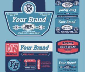 Brand label vector