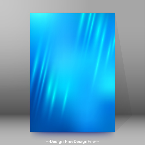 Brochure cover blue glowing background vector