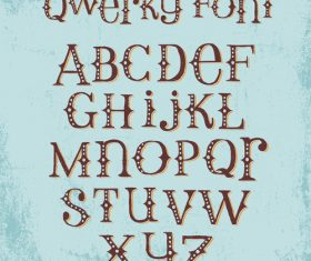 Brown alphabet Vector