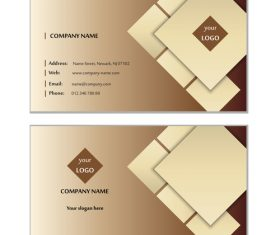 Brown geometric graphic card design vector