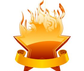Burning star vector