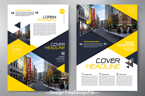 Business brochure flyer design a4 template vector free download