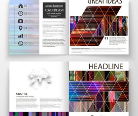 Business templates abstract vector layout