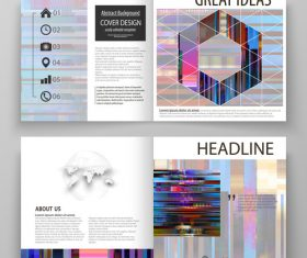 Business templates cover vector