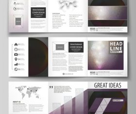 Business templates for bi fold brochure vector
