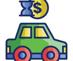 Car rental cartoon vector