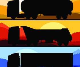 Car silhouette banner vector