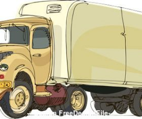 Cartoon cargo truck vector