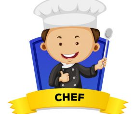 Cartoon chef illustration vector