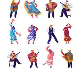 Cartoon dancing vector