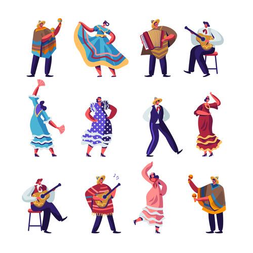 Cartoon dancing vector