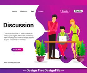 Cartoon discussion vector