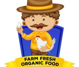 Cartoon farmer illustration vector