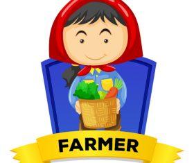 Cartoon harvest illustration vector