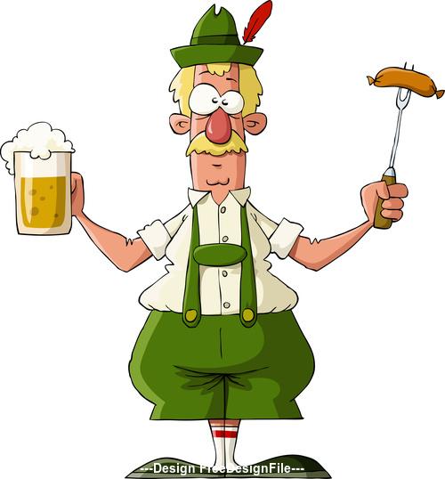 Cartoon holiday character vector